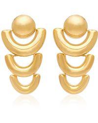 AGMES - Short Joan Gold Vermeil Earrings - Lyst