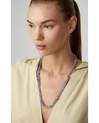 Mimi So - 18k Gold, Chalcedony And Diamond Necklace - Lyst