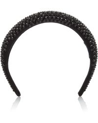 Prada - Satin Crystal Headband - Lyst