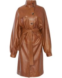 Apiece Apart - Cas Leather Trench - Lyst