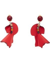 Marni - Crystal-embellished Leather Earrings - Lyst