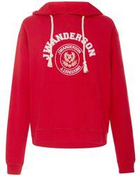 JW Anderson - University Cotton Hoodie - Lyst