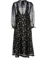 Anna Sui - Dotted Leaves Charmeuse Dress - Lyst