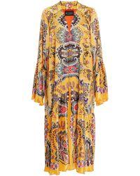 Etro Exclusive Marigold Silk Midi Robe