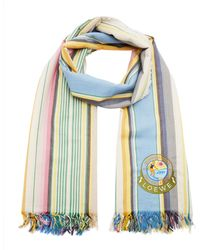 Loewe - Multicolored Cotton-striped Scarf - Lyst