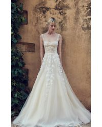 Costarellos Bridal - Square Neck Tulle Gown - Lyst