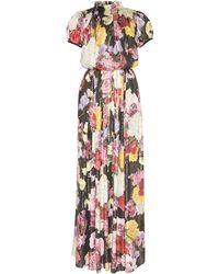 Dolce & Gabbana Silk Floral Maxi Dress