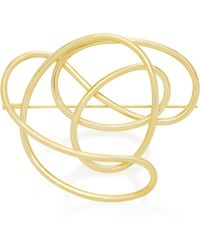 Joanna Laura Constantine   Gold-plated Knot Brooch   Lyst