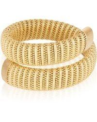 Carolina Bucci - Sun Lurex Caro Gold-plated Bracelet - Lyst