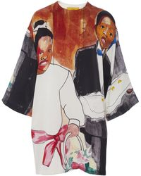 Pyer Moss - Printed Silk Dress - Lyst