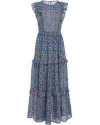 Banjanan - Iris Floral Cotton Voile Maxi Dress - Lyst