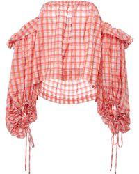 Prabal Gurung - Plaid Blouson Sleeve Top - Lyst