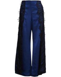 Romance Was Born Goddess Lace Pant - Blue