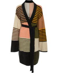 The Elder Statesman - M'o Exclusive Wallace Patchwork Striped Cashmere Robe - Lyst