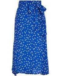 Faithfull The Brand - Valencia Floral Voile Wrap Midi Skirt - Lyst
