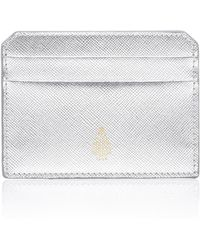Mark Cross - Metallic Saffino Leather Card Case - Lyst
