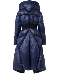 Dorothee Schumacher - Oversized Belted Shell Hooded Puffer Coat - Lyst