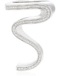 Lynn Ban - Sterling Silver Diamond Ring - Lyst