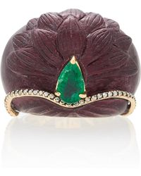 Silvia Furmanovich - Sculptural Botanical Marquetry Lotus Ring - Lyst