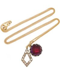 Larkspur & Hawk - Lady Emily 14k Gold, Black Rhodium, Sterling Silver And Multi-stone Necklace - Lyst