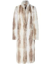 Sally Lapointe - Faux Fur Tailored Coat - Lyst
