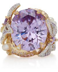 Anabela Chan - Lilac Swallowtail 18k Gold Vermeil Multi-stone Ring - Lyst