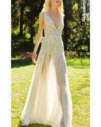 Costarellos Bridal - Chantilly Lace Dress - Lyst