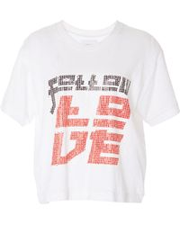 Current/Elliott - The Clary Graphic Tee - Lyst