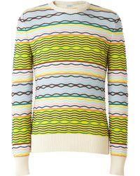 Loewe - Wavy Striped Cotton Sweater - Lyst