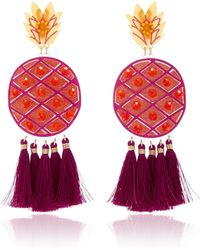 Mercedes Salazar | Fiesta Piña Morada Gold-tone Earrings | Lyst