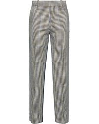 Alexander McQueen - Checked Wool-blend Cropped Trousers - Lyst