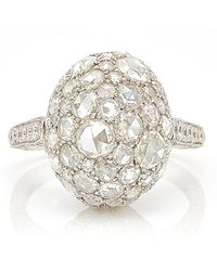 Sidney Garber - Rosebud White Gold Ring - Lyst