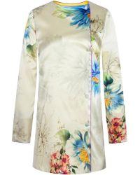 Adriana Iglesias - Lucy Floral Silk Satin Jacket - Lyst