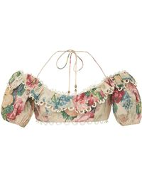 Zimmermann - Melody Off The Shoulder Top - Lyst