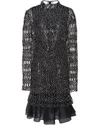 J. Mendel - Embroidered Long Sleeve Mini Dress - Lyst