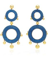 Joanna Laura Constantine - Grommet Gold-plated Brass And Cubic Zirconia Statement Earrings - Lyst