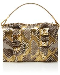 Ralph & Russo - Alina Chain Shoulder Bag In Python - Lyst