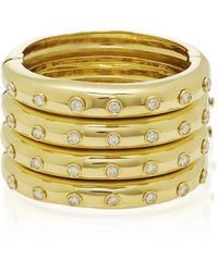 Dior - One-of-a-kind Gold With Diamond Cuff - Lyst
