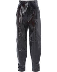Givenchy - Pleated Leather Tapered Pants - Lyst