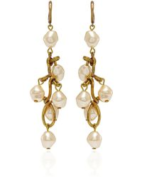 Marni | Pearl Gold-tone Drop Earrings | Lyst
