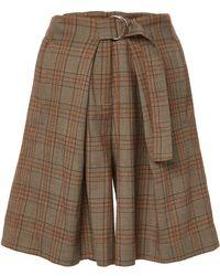 Tibi - James Menswear Check Pleated Shorts - Lyst
