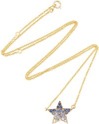 She Bee - 14k Yellow Gold And Sapphire Star Pendant Necklace - Lyst