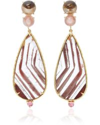 Daria de Koning - Lodolite Pear 18k Yellow Gold Multi-stone Earrings - Lyst