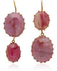Renee Lewis - 18k Gold And Ruby Earrings - Lyst