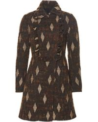 J. Mendel - Sable Fur-trimmed Wool Coat - Lyst