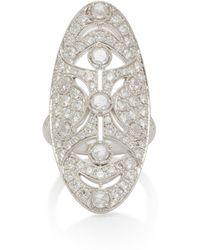 Noa - Art Deco 18k White Gold Diamond Ring - Lyst