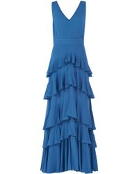 Yanina Demi Couture - Tiered Sleeveless Dress - Lyst