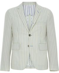 Thom Browne - Unconstructed Striped Wool-blend Sport Coat - Lyst