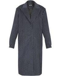 Dalood - Printed Long Coat - Lyst