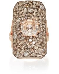 Sylva & Cie - 14k Rose Gold And Champagne Diamond Ring - Lyst
